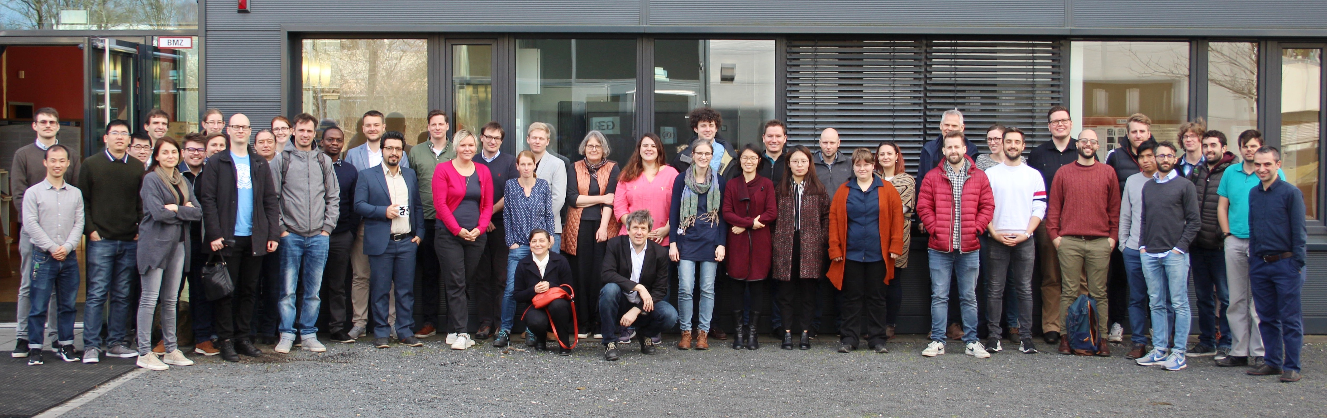 Group photo of Poroelasticity Minisymposium 2019 in Bochum