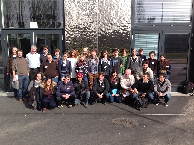 Group photo of Poroelasticity Minisymposium 2014